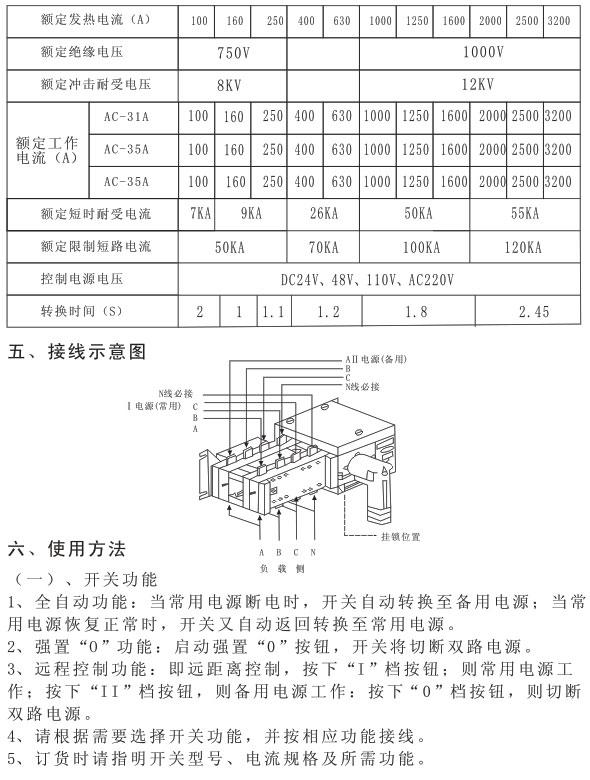 atq3系列隔离型双电源自动转换开关