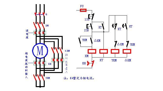 90kw电机启动:解决y转到Δ时跳电源开关的方法