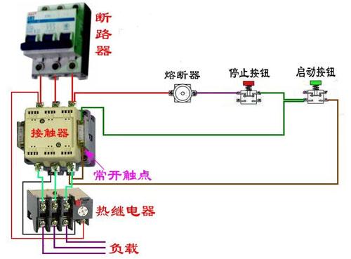 机带过热保护的电路接线图解-接触器接线图详细解释 接线图解大全图片