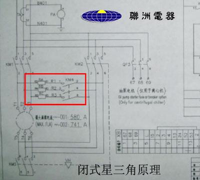 55kw双三角回路电机接线图